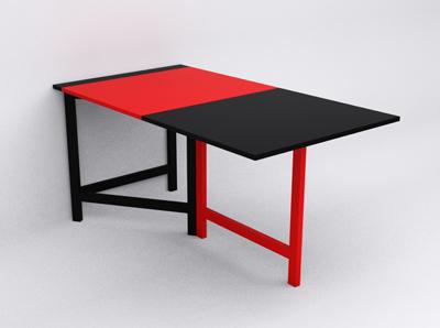 Pin tavolo da parete doppio on pinterest - Tavolo a ribalta da parete ...